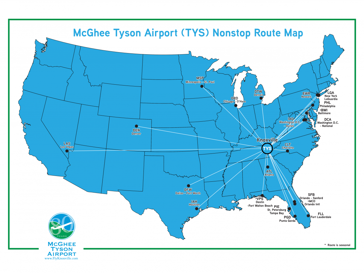 Nonstop Destination Map